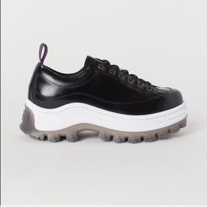 Eyty's+H&M black chunky leather sneakers